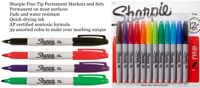 Sharpie Fine Tip Permanent Markers and Sets Permanent on most surfaces Fade and water resistant Quick-drying ink AP certified nontoxic formula 39 assorted color to make your marking unique